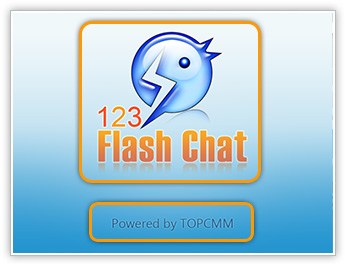 Chat App Welcome Page, Mobile App, iPhone/iPad/Android App, 123 Flash Chat